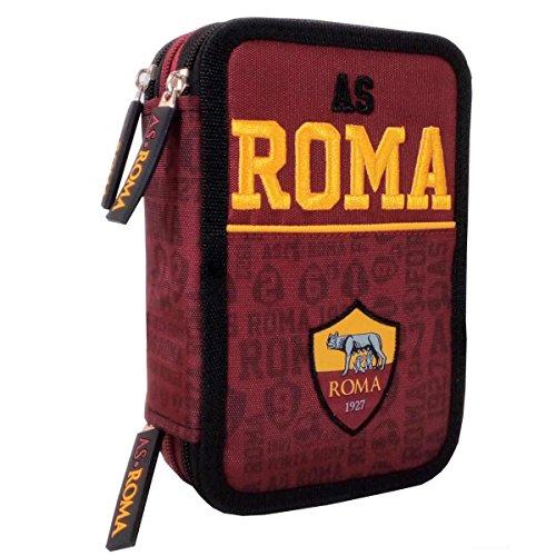 Estuche del AS Roma 1927, con 3cremalleras, organizador, con 46espacios, código 58166