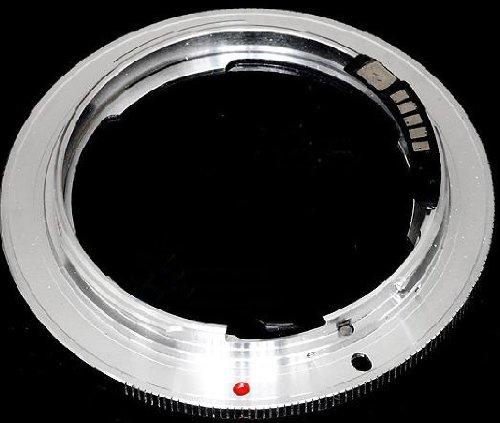 Pixtic Adapterring [AF-Confirm] für Nikon Objektive zum Anbringen an Canon EOS Gehäuse mit EF/EF-S Bajonett (Af-confirm-adapter)