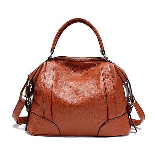 Womens Ladies Leather Top Handle Handtaschen Schultertasche mit abnehmbarem Gurt für den täglichen Einkauf Lässige Handtasche von LifeWomen Schulter-Handtasche ( Color : Brown , Size : Free Size )
