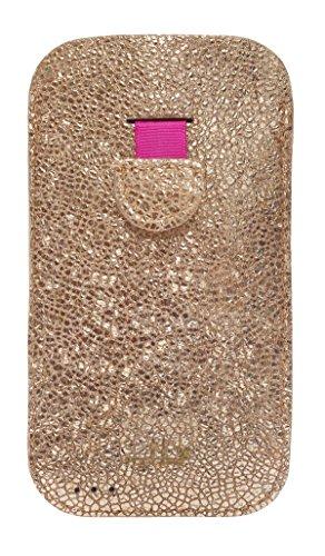 mabba® iPhone Tasche Ledertasche für das iPhone 6/6s und 7 als auch iPhone 6/6s und 7 Plus aus Leder -Pures Gold- Handmade (iPhone 6, gold)