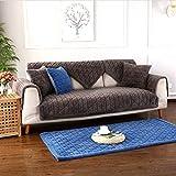 Sofabezug Sofa Bezug 1 stück Plüsch Kariertes Sofa Cover Home rutschfeste Schutzmatte Sofabezug,Geeignet für l-Form ecksofa Sofa, Gray, 70 * 150cm