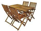 MALATEC Gartenmöbel Holz Sitzgruppe Gartenset Sitzgarnitur Esstischgruppe Balkon #5359