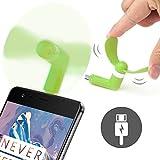 ONX3® Grün Alcatel OneTouch PIXI Erste Mobile Handy-bewegliche Taschen-Sized Fan-Zusatz für Android Micro USB-Anschluss Smartphone