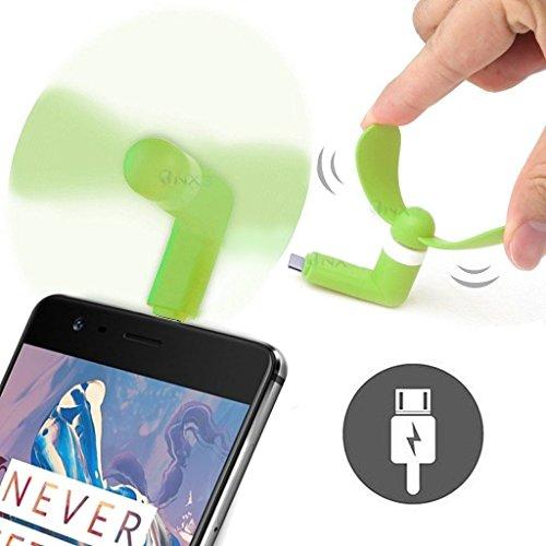 ONX3® (GRÜN) LG COOKIE 3G Mobile Handy-bewegliche Taschen-Sized Fan-Zusatz für Android Micro USB-Anschluss Smartphone (Mobile 3g-handy Lg)