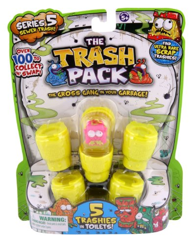 Trash Pack Series #5 Figure, 5-Pack by Trash Pack TOY (English Manual)