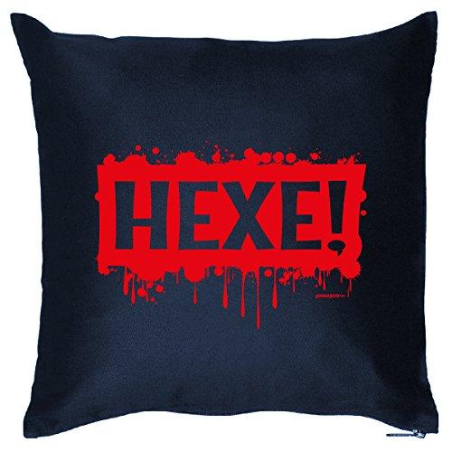 Füllung u. Aufdruck lustige Halloween Sprüche: Hexe! ()
