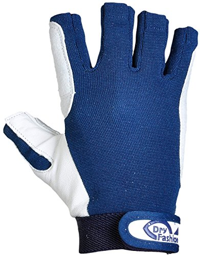 Dry Fashion Leder Segelhandschuhe 5 Finger frei, Größe:M