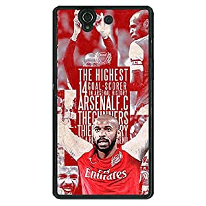 Jugaaduu Arsenal Therry Henry Back Cover Case For Sony Xperia Z