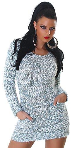 Jela London - Pull - Doux et moelleux - Femme - Taille unique (36-42) Vert
