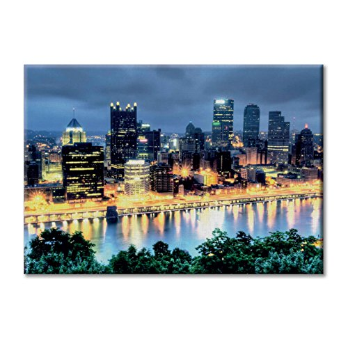 KiarenzaFD Leinwand-Panel Leinwand USA Pittsburgh Nacht 100x70