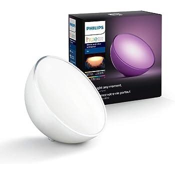 Philips Hue Go Lampe Portable White And Color Ambiance, Lampe Connectée - Lampe Led à Poser et à Variation de Couleurs - Fonctionne avec Alexa