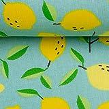Swafing Beschichtete Baumwolle Luna Zitronen, hellmint
