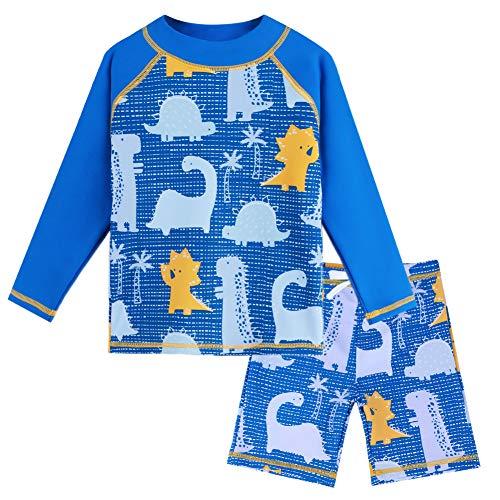 HUAANIUE Baby Junge Bademode Badeanzug Set Badebekleidung Sonnenschutzkleidung Schwimmsportbekleidung mit Krabbe 0-4 Jahre