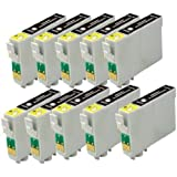 10x T0711 TO711 T711 SCHWARZ KOMPATIBEL TINTEN DRUCKER PATRONEN FÜR EPSON STYLUS SX515W SX415 SX218 SX200 SX215 SX600FW SX510W SX400 SX115 SX205 SX110 SX610FW SX100 SX405 SX410 SX105 S20 SX210 Wifi S21 DX8400 DX8450 DX4450 DX5000 DX7400 DX7450 DX6000 DX4400 D92 DX6050 D120 DX4000 DX4050 DX5050 DX9400F D78 DX8000 DX7000F Network DX6050EN Office BX610FW BX300F BX310FN BX600FW B40W BX510 Drucker -mit CHIP