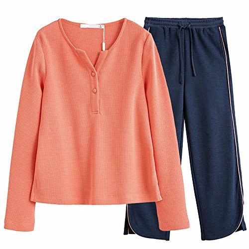 autunno le maniche lunghe gambe i pantaloni a pigiama occasionale completo s.