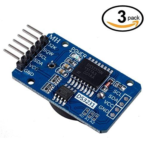 WINGONEER 3Pcs DS3231 AT24C32 I2C Tiny Módulo de precisión en tiempo real módulo de reloj para Arduin
