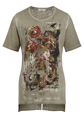 Stückgefärbtes Shirt Khaki