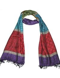 Lovarzi - Bufandas para mujer - bufanda pashmina lujo púrpura de mujer - damas bufandas de moda de colores