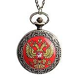 Herren-Taschenuhr, berühmte russische Doppelköpfer, Adler Design, Taschenuhr, Geschenk für Männer und Frauen
