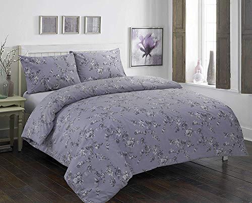 QQOOU Luxus-Bettwäsche-Set, Bettdeckenbezug mit Kissenbezügen, Senffarben, Claire Grey, Doppelbett