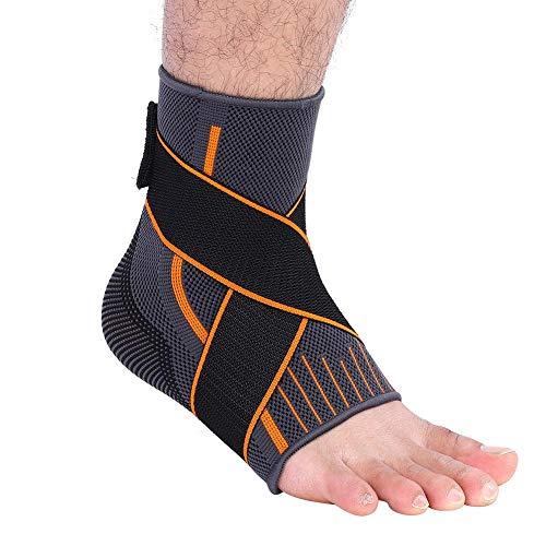 Ankle Support, 1 Stücke Sport Knöchelbandage Fußhülse Fußkompression Wraps Fußgelenkbandage Damen Herren für Basketball Fußballtraining Volleyball (L) Ankle Wrap