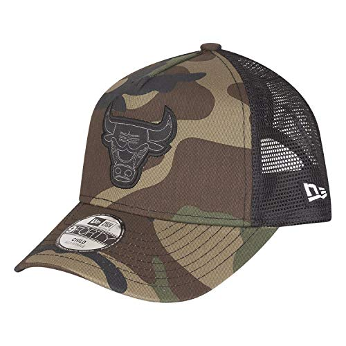 New Era Character 9Forty Trucker Kinder Cap Chicago Bulls Camouflage, Size:Youth