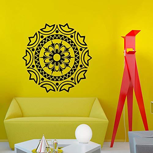 zhuziji Anderes Design Mandala Blume Spezielle Wandtattoo Startseite Religiöse Serie Art Decor Vinyl Wandaufkleber Große Mandala Flowe 57x57 cm