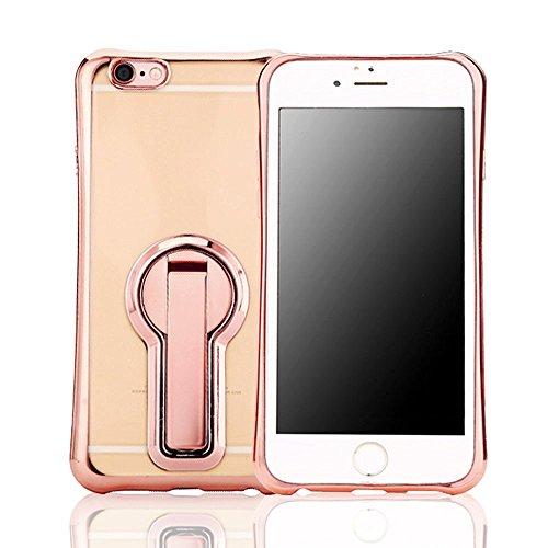 Frixie (TM) TPU con supporto Custodia per iPhone 7/7Plus antiurto paraurti posteriore trasparente protettiva con clip oro rosa 11,9cm 14cm Gold Iphone 7 Plus Rose Gold Iphone 7