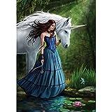 Kayi 5D Diamant Gemälde Wild Elefanten partial-drilled Strass Hand Craft Malerei Home Decor, Beauty and Unicorn, 30 x 40 cm