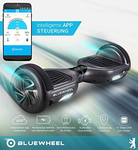 Testsieger 6.5″ Hoverboard Bluewheel HX320 mit UL2272 Sicherheitsstandard – Kinder Sicherheitsmodus mit App – Bluetooth Lautsprecher – 700W Motor – LED – Elektro Scooter Self-Balance E-Skateboard - 2