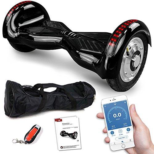 Viron Balance Scooter 800 Watt Crossrover mit App Funktion, 10 Zoll Bereifung, Bluetooth Lautsprecher, Kinder Sicherheitsmodus, Elektro Self Balance E-Scooter GPX-03 SUV (schwarz)