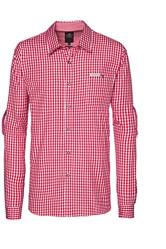 Stockerpoint - Herren Trachtenhemd, kariert in verschiedenen Farbvarianten, Campos2 Rot