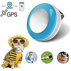 Mini Localizador GPS, GPS Tracker para Mascotas Gatos Perros/Seguimiento en Tiempo Real/Geo-Valla / Historia Ruta / IP65 Impermeable / 2 vías Llamada/Monitor Función TK925