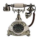 VBESTLIFE FSK/DTMF Vintage Antik Telefon,38-Gruppe Anrufaufzeichnungen One-Taste Wahlwiederholung Antikes Telefon für Hause,Büro, Luxus Haus, Sterne Hotel, Kunstgalerie, Schmuckgeschäft usw.