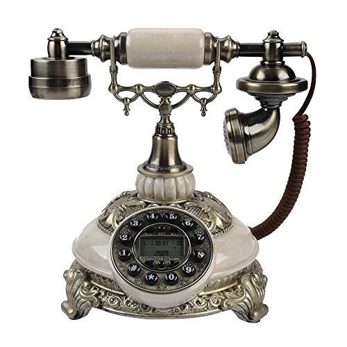 Eboxer FSK/DTMF Vintage Antik Telefon 38-Gruppe Anrufaufzeichnungen One-Taste Wahlwiederholung Antikes Telefon für Haus,Hotel usw.