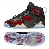 Nike Air Jordan 7 Retro Db DOERNBECHER BG (GS) 898650-015 Black/Red Kids Basketball Shoes (3.5Y)