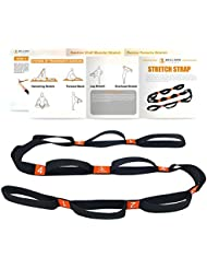 5BILLION Correa Yoga & Stretch Strap - Ancho de 4cm - Yoga Strap para Yoga Caliente, Terapia Física, Mayor Flexibilidad & Aptitud - Múltiples Lazos de Agarre