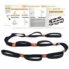 Idea Regalo - 5BILLION Cinghia di Yoga - Larghezza 4 cm - Cinghia di Yoga con Cicli Multipli Grip - Ideale per Hot Yoga, Fisioterapia, una Maggiore Flessibilità e Fitness Allenamento
