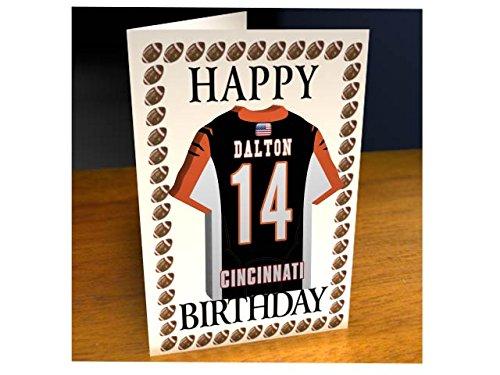 NFL National Football League Geburtstagskarte, mit Trikot-Kühlschrank-Magnet Cincinnati Bengals NFL Fridge Magnet Card A5 Fridge Magnet Birthday Card Broncos Football Cards