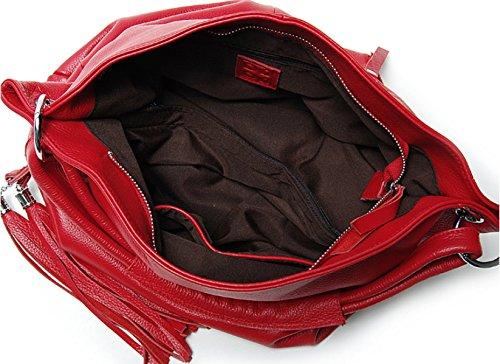 Sacchetti Di Spalla Di Modo Delle Borse Della Borsa Di Cuoio Dell'unità Di Elaborazione Delle Borse Della Borsa Delle Donne Delle Borse Delle Donne (6 Colori) Red