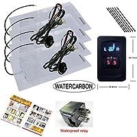 watercarbon 5quadrante interruttore utilizza di alta qualità In Fibra Di Carbonio Premium Riscaldatore Pad Sedile Riscaldato per auto integrato per auto sedile Warmer Covers Kit 2sedili
