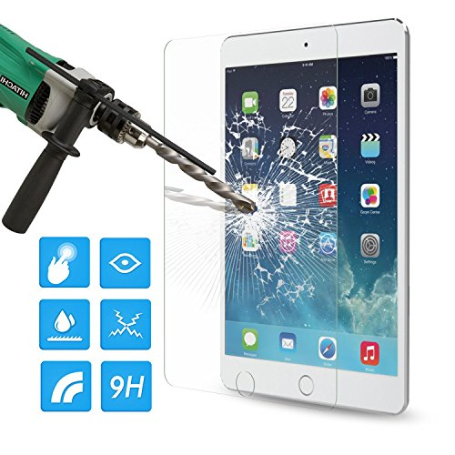 MoKo Displayschutzfolie für iPad Mini (5. Generation) 2019 & iPad Mini 4 2015, Härtegrad 9H abgerundete Kanten, gehärtetes Glas Glas Müller