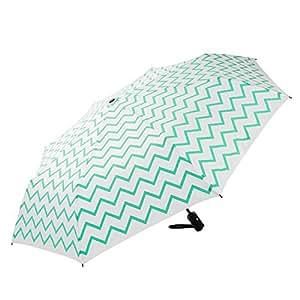 """MOSISO Ombrello Pioggia Resistenti Automatico da Viaggio Borsa (37.8"""" / 96cm Diametro),Blu caldo Chevron"""