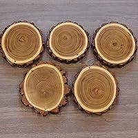 5 placas de madera de acacia con forma de cuernos de trofeo, 13 cm