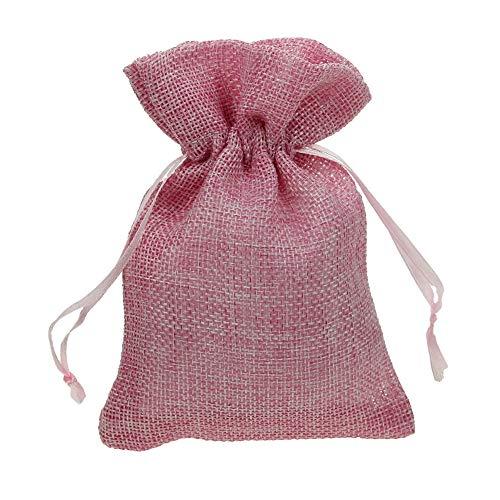Alice's decorations 100 pz sacchetto scozzese in cotone fai da te bomboniere regalo bomboniere portaconfetti battesimo matrimonio anniversario complenanni festa gioielli