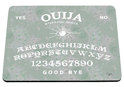 hippowarehouse Mond Muster Ouija Board bedruckt Mauspad Zubehör Schwarz Gummi Boden 240mm x 190mm x 60mm, mint, Einheitsgröße