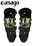 #10: Casago Scoyco K12 Adult Universal Knee Adjustable and Breathable Knee Pad Armor Protector for Motorcycle Motocross Racing Mountain Bike and Other Sports (Set of 2, Black & Green)