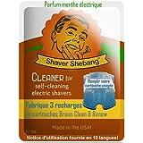 12 recargas para cartuchos Braun - Menta eléctrica - 4 soluciones limpiadoras Shaver Shebang - sustitutos de Clean & Renew