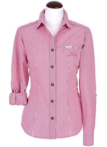 Michaelax-Fashion-Trade - Chemisier - À Carreaux - Manches Longues - Femme Pink (2160)