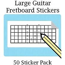 Grande Guitarra Fretboard – Adhesivo de pegatinas con 12 trastes (50 por pack) ideal